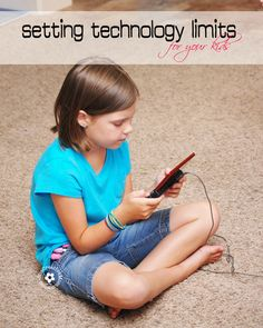 Setting Technology Limits for Kids - onecreativemommy.com The plan is to have the children meet certain criteria before they're allowed to use technology (e.g., eat breakfast, brush teeth, etc.)