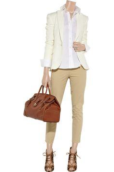 $160 Ralph Lauren Black Label Annie stretch-cotton cropped pants NET-A-PORTER.COM