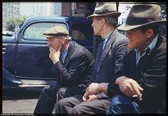 south ferri, charl cushman, photograph, vintage photos, color, 1940s, parks, new york city, york citi