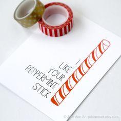 Sexy Christmas Card. Husband Christmas Card. - Peppermint Stick