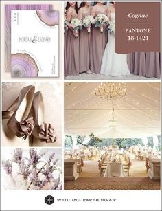 Pantone Cognac Inspiration Board | Wedding Paper Divas Blog