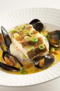 Pan Fried Cod with a Mussel Broth | Edinburgh New Town Cookery School