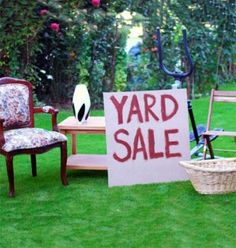 have a yard sale and get rid of things we do not EVER use. yard sale tips