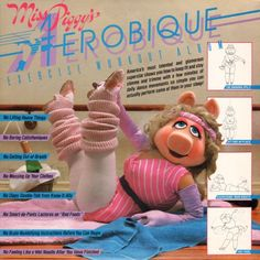 Aerobics were totally popular. So was Miss Piggy. Combining the two? Pure genius. Food Quotes, Piggi, Exercise Workouts, Jane Fonda, Weight Loss, Workout Outfits, The Muppets, Workout Routin, Leg Warmers