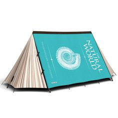 Camping tent that looks like a book.