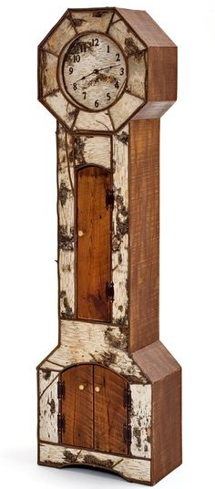 Birch Bark & Barnwood Grandfather Clock No...this isn't faux...but birchbark is easy to faux-paint...and I just love anything birchy!