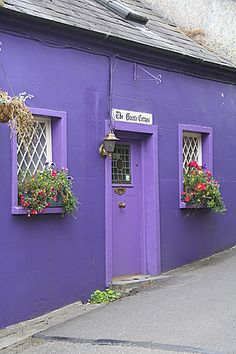 Purple Cottage in Cork, Ireland