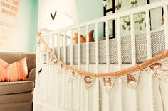 Love the colors and cute banner to welcome baby home!