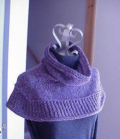 Soft Shoulder Cowl/Shawl By Kris Basta - Kriskrafter, LLC - Free Knitted Pattern - (ravelry)