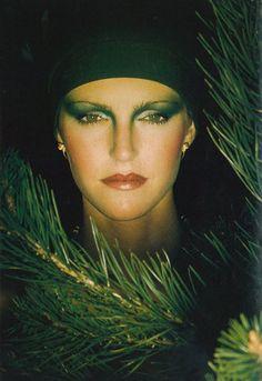 "Vogue UK August 1974  ""Night Watch Beauty""  Model: Carole Singleton  Photographer: Eric Boman"