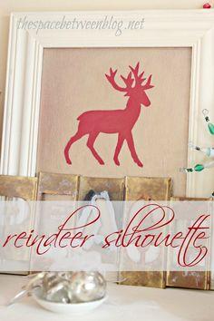 easy diy reindeer silhouette from thespacebetweenblog.net