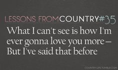 Lessons from Country :)