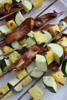 Grilled Chicken Kabobs... great summer meal