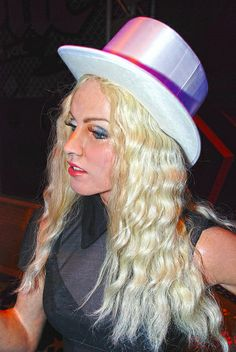 Madonna at Madame Tussaud's Wax Museum in Las Vegas Nevada.