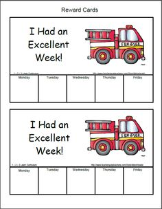 I have added Fire Safety Reward sheets to 1 - 2 -3 Learn Curriculum. Under the Fire Safety page. :) Jean 1 - 2 - 3 Learn Curriculum
