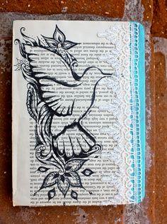 Handmade Hummingbird Journal