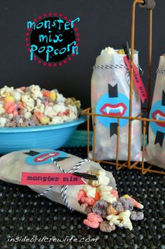Monster Mix popcorn munch for Halloween