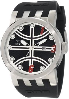 Invicta Men's 10396 DNA Hoop Dream Black Textured Dial Black Silicone Watch Invicta. $109.99. Date function. Mineral crystal; brushed stainless steel case; black silicone strap. Japanese quartz movement. Water-resistant to 100 M (330 feet). Black textured dial with silver tone hands and hour markers, red arabic numerals at 1, 3 and 6; luminous. Save 88% Off!