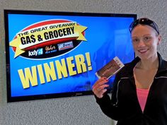 Richelle King won $100 in The Great Gas & Grocery Giveaway from KXLY4, Divine's & Yokes.