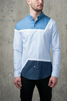 Blue Zag Top by General Idea