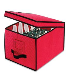 Loving this Red Christmas Light Storage Box on #zulily! #zulilyfinds