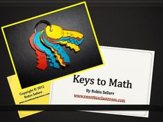 Keys to Math: Here is a simple solution to helping your students with math. Use the key pattern to help students create their own keys to math. You can also use ...