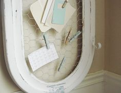 Make this Shabby message board and 45 BEST Shabby Lifestyle Decor & Accessory DIY Tutorials EVER!!  From MrsPollyRogers.com