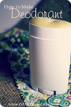 How to make a homemade deodorant that actually works! Simple and all natural.
