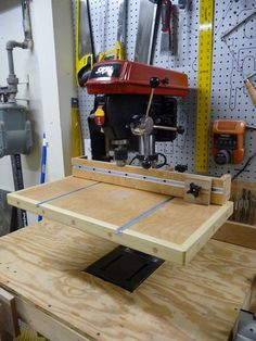 Drill Press Auxiliary Table