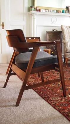 Teak and Leather Armchairs | Danish Modern