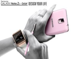 'Design your Life' with the Pink Samsung Galaxy Note 3. View the cheapest pay monthly contract deals at PhonesLimited.co.uk