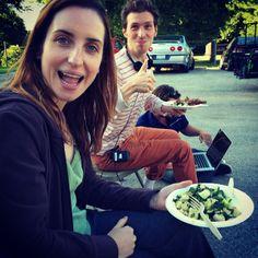 via @Bethgrantactor: #thefoodmovie @darylwein @Zoe Lister-Jones organic non-GMO lunchtime Funtime