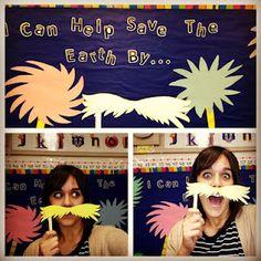 Apples and ABC's: Adventures in Kindergarten: Lorax Mustache Craft   # Pinterest++ for iPad #
