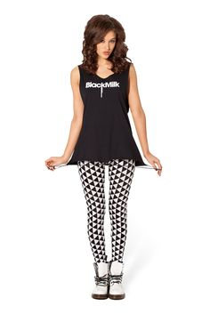Triangle Black and White Leggings - LIMITED by Black Milk Clothing ($50AUD)