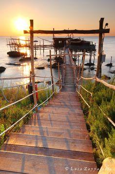 dawn on the Adriatic Sea, Punta Cavalluccio, Fossacesia Marina, Abruzzi, Italy