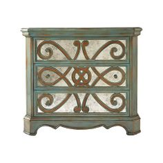 Peacock Antique Mirror Chest - bedside tables??