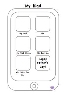 Practically Speeching: A Father's Day Freebie! Cute take-home activity printable. Pinned by SOS Inc. Resources. Follow all our boards at pinterest.com/sostherapy for therapy resources.