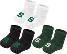 Michigan State Spartans 3 Pack Booties