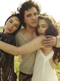 Lena Headey, Kit Harrington and Emilia Clarke for Rolling Stone Magazine #Game of Thrones