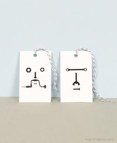 """Free, printable """"tool"""" gift tags"""