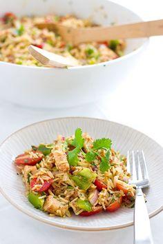 Paella Rice Salad | Eclectic Recipes