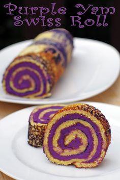 Purple Yam Swiss Roll