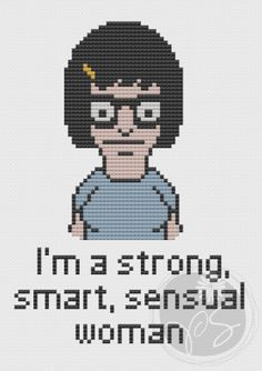 tina belcher cross stitch, cross stitch bobs burgers, patterns, crossstitch, bobs burgers cross stitch, bobs burgers crafts, crosses, cross stitches, embroideri