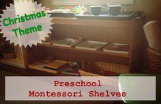 Simple Little Home: Christmas Themed Montessori Shelves