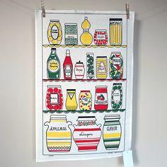 Preview image for Tea Towel - Larder - Vintage Scandinavian design