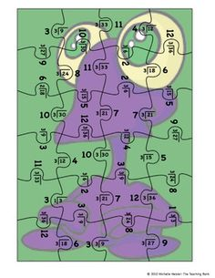 Division Puzzle Covers Divisor 3