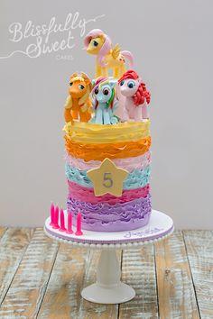 Colorful My Little Pony Birthday Cake