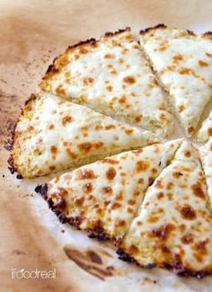 Cauliflower Pizza Crust - Low carb, low calorie and gluten free cauliflower crust pizza that can take on any of your favourite toppings. Foolproof  delicious low carb meal recipe. by Staci21*