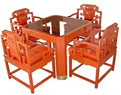 Chinoiserie Orange Lacquer Set chinoiserie, orang lacquer, dine set, design inspir, hous, oranges, dining sets, chinoiseri chic, furnitur live