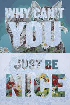 Why Can't You Just Be Nice, by Trey Speegle - 20x200 (from $24)